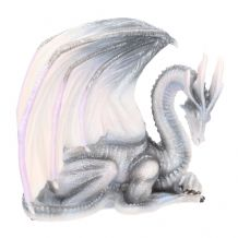 WHITE DRAGON OF WISDOM FIGURINE
